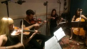 Dolce Vita Strings Quartet Tracking at New Record Studios